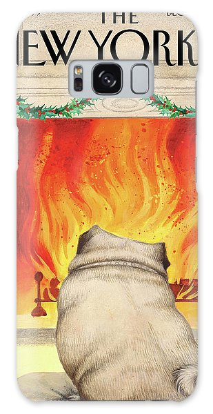 Yule Dog Galaxy Case
