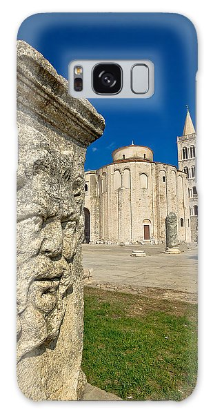 Zadar Old Roman Square Artefacts Galaxy Case