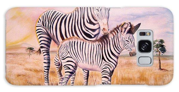Zebra And Foal Galaxy Case