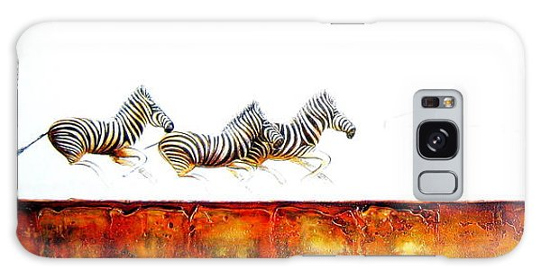 Zebra Crossing - Original Artwork Galaxy Case