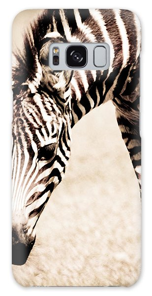 Zebra Foal Sepia Tones Galaxy Case