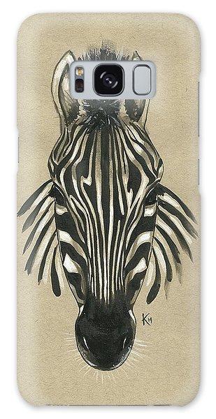 Zebra Front Galaxy Case