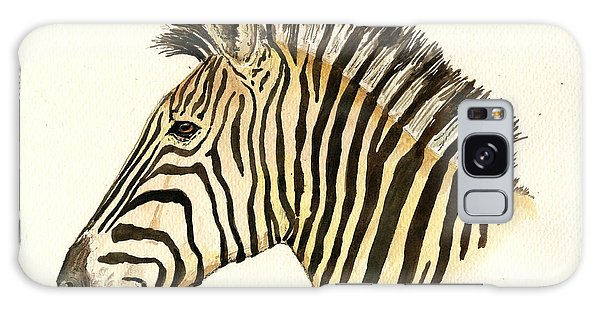 Zebra Galaxy S8 Case - Zebra Head Study by Juan  Bosco