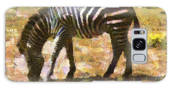 Zebra In The Wild Galaxy Case by Carrie OBrien Sibley
