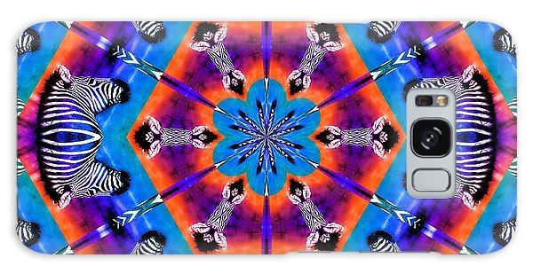 Zebra Kaleidoscope Galaxy Case