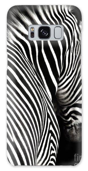 Zebra On Black Galaxy Case