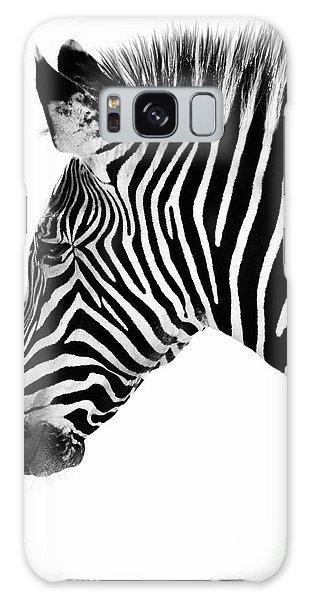 Zebra Profile Black And White Galaxy Case