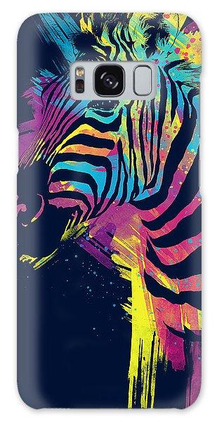 Rainbow Galaxy Case - Zebra Splatters by Olga Shvartsur