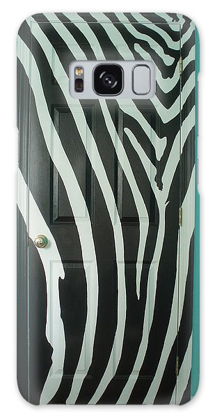 Zebra Stripe Mural - Door Number 1 Galaxy Case by Sean Connolly