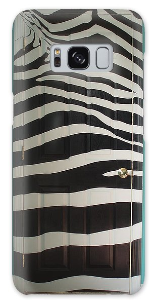 Zebra Stripe Mural - Door Number 2 Galaxy Case by Sean Connolly