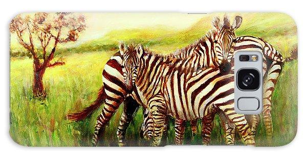 Zebras At Ngorongoro Crater Galaxy Case