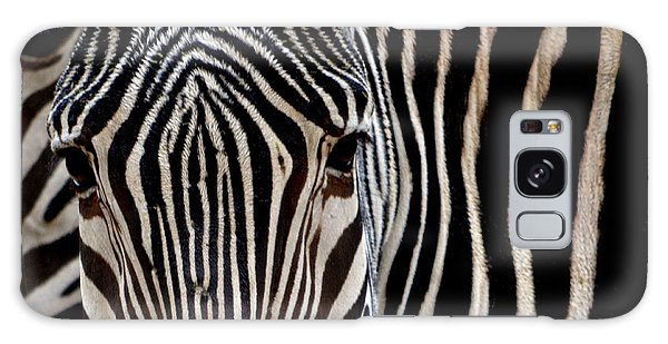 Zebras Face To Face Galaxy Case by Nadalyn Larsen