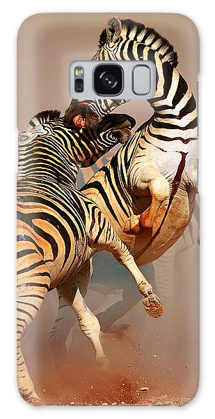 Environments Galaxy Case - Zebras Fighting by Johan Swanepoel