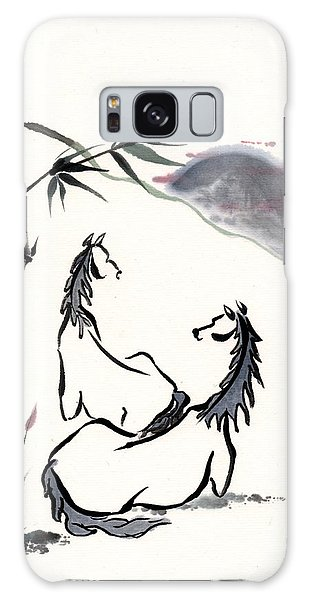 Zen Horses Evolution Of Consciousness Galaxy Case by Bill Searle
