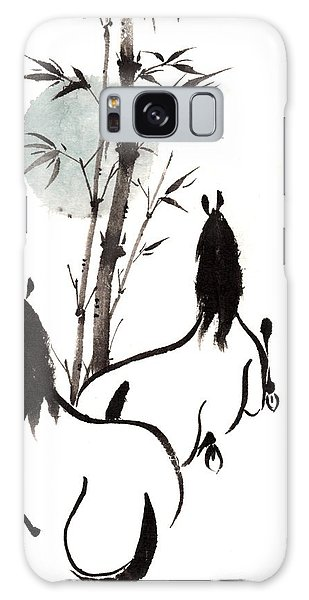 Zen Horses Moon Reverence Galaxy Case by Bill Searle