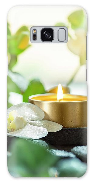 Orchid Galaxy Case - Zen Orchid And Candle by #name?