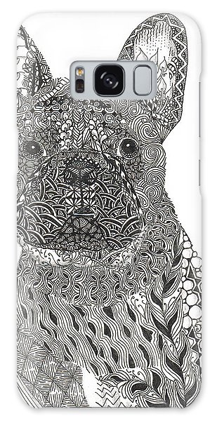 Zentangle Inspired French Bull Dog Galaxy Case