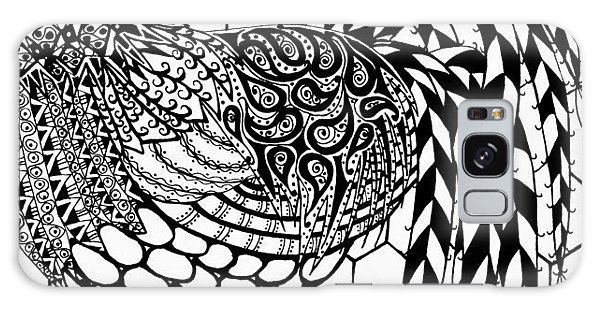 Zentangle Rooster Galaxy Case