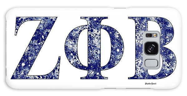 Zeta Phi Beta - White Galaxy Case by Stephen Younts