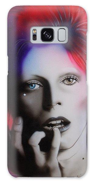 Celebrities Galaxy S8 Case - Ziggy Stardust by Christian Chapman Art