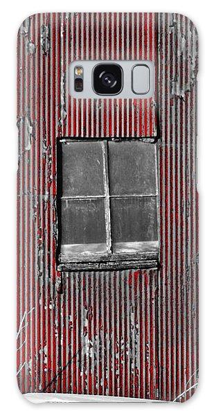 Zink Rd Barn Window Bw Red Galaxy Case