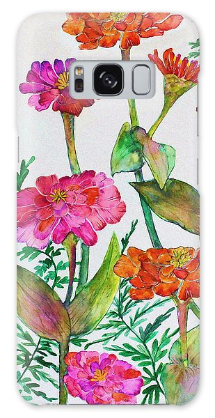Zinnia And Ferns Galaxy Case