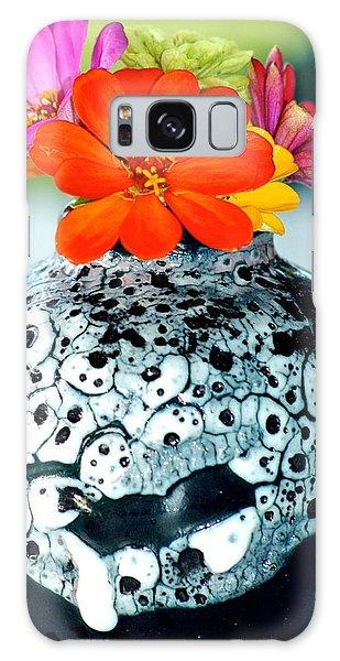 Zinnia In Vase Galaxy Case by Lehua Pekelo-Stearns