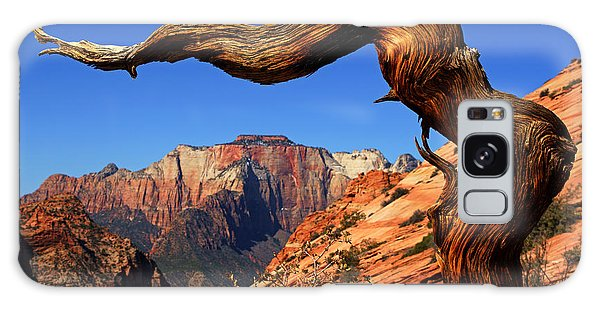 Zion's West Temple View Galaxy Case by Daniel Woodrum