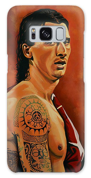 Zlatan Ibrahimovic Painting Galaxy Case by Paul Meijering