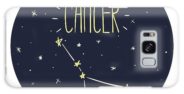 Outer Space Galaxy Case - Zodiac Signs Doodle Set - Cancer by Radiocat