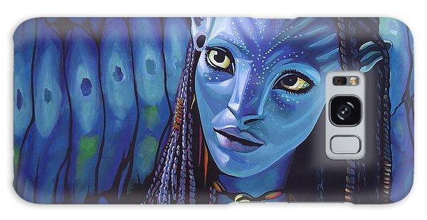 People Galaxy Case - Zoe Saldana As Neytiri In Avatar by Paul Meijering