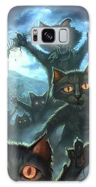 Skull Galaxy Case - Zombie Cats by Jeff Haynie