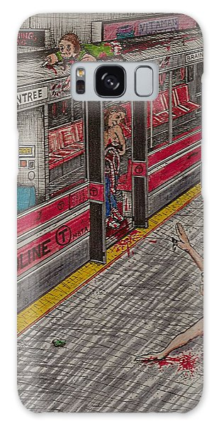Zombies On The Red Line Galaxy Case