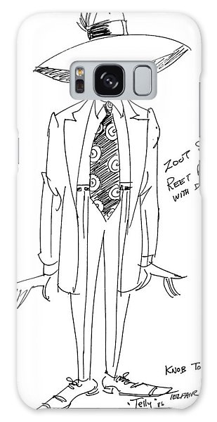 Zoot Suit Illustration 2 Galaxy Case