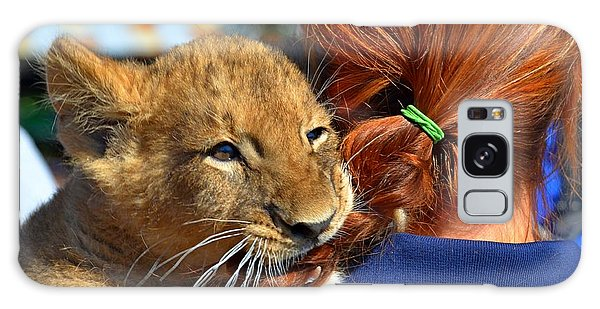 Zootography3 Zion The Lion Cub Likes Redheads Galaxy Case by Jeff at JSJ Photography