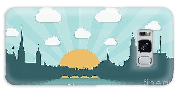 Downtown Galaxy Case - Zurich Skyline, Switzerland - Flat by Petrovic Igor