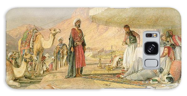 Caravan Galaxy Case -  A Frank Encampment In The Desert Of Mount Sinai by John Frederick Lewis
