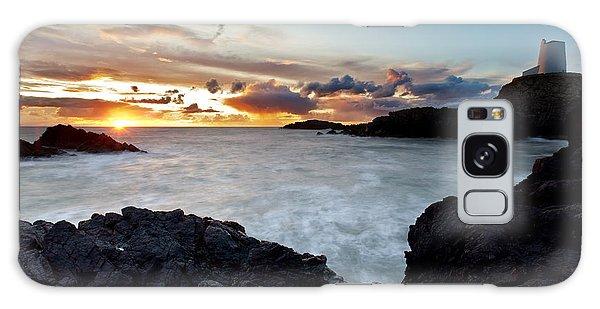 Llanddwyn Island Sunset Galaxy Case