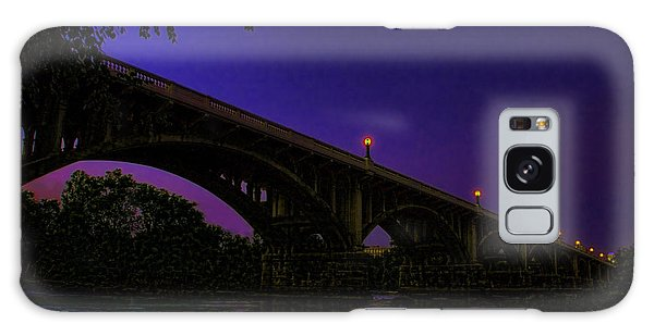 Night Glow On The Gervais Bridge Galaxy Case