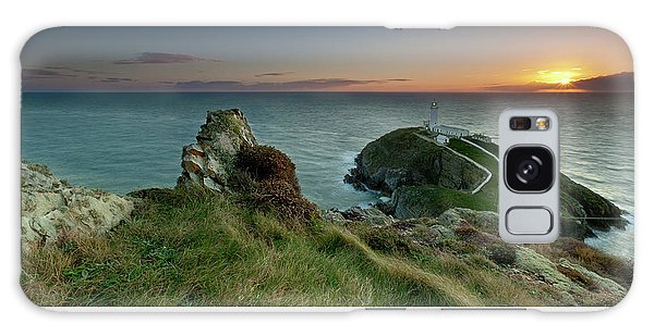 Sunset At South Stack Lighthouse Galaxy Case