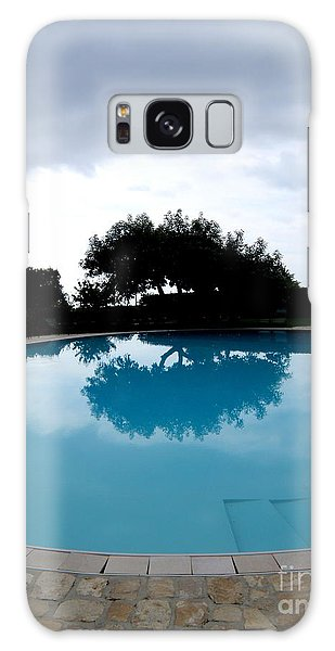 Tree At The Pool On Amalfi Coast Galaxy Case