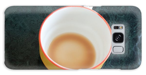 A Cup With The Remains Of Tea On A Green Table Galaxy Case by Ashish Agarwal