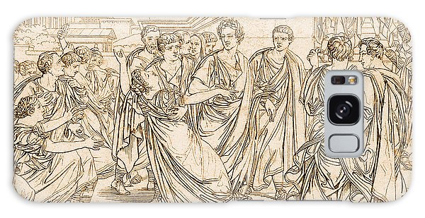 Ides Of March Galaxy Case - Assassination Of Julius Caesar, 44 Bc by Photo Researchers