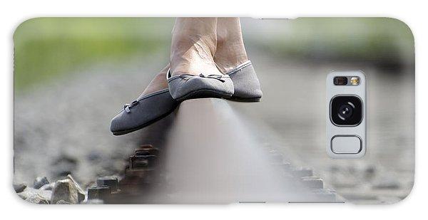 Balance On Railroad Tracks Galaxy Case