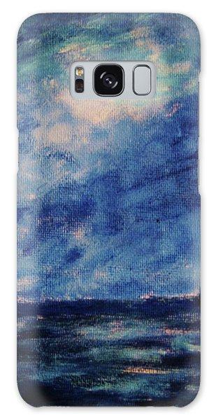 Big Blue Galaxy Case by John Scates