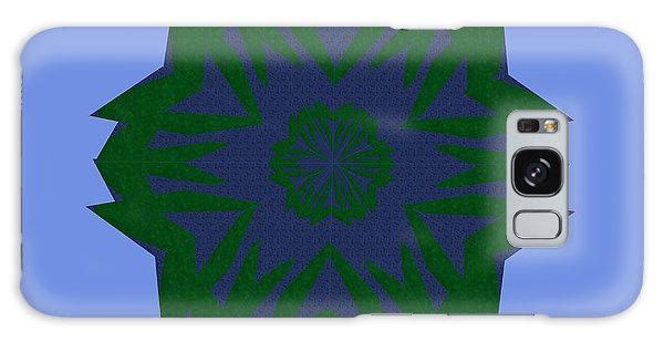 Blue And Green Kaleidoscope Galaxy Case