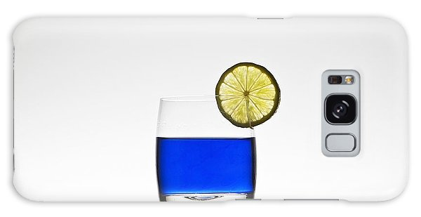 Blue Cocktail With Lemon Galaxy Case