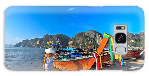 Phi Phi Island Galaxy Case - Boats At Phi Phi Island by MotHaiBaPhoto Prints