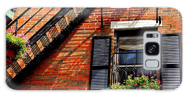 Brick House Galaxy Case - Boston House Fragment by Elena Elisseeva