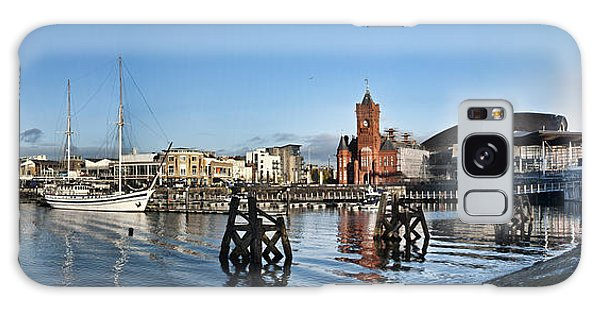 Cardiff Bay Panorama Galaxy Case by Steve Purnell